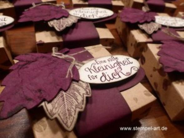 Hanuta Verpackung nach StempelART, Vintage leaves (3)