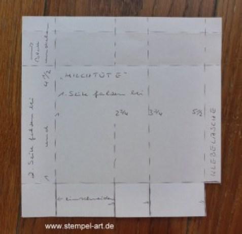 Milchtüte nach StempelART, Anleitung bebildert, Tutarial, 6x6 (2)