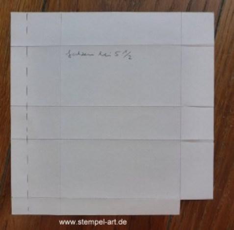 Milchtüte nach StempelART, Anleitung bebildert, Tutarial, 6x6