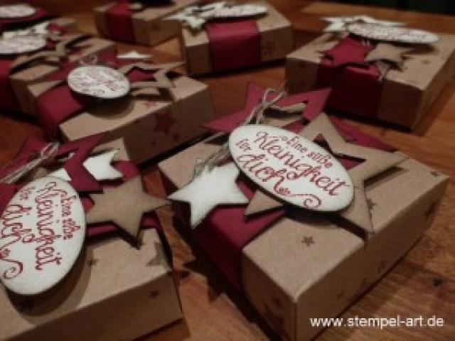 weihnachtliche Hanuta Verpackung nach StempelART,