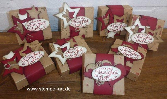 weihnachtliche Hanuta Verpackung nach StempelART, (2)