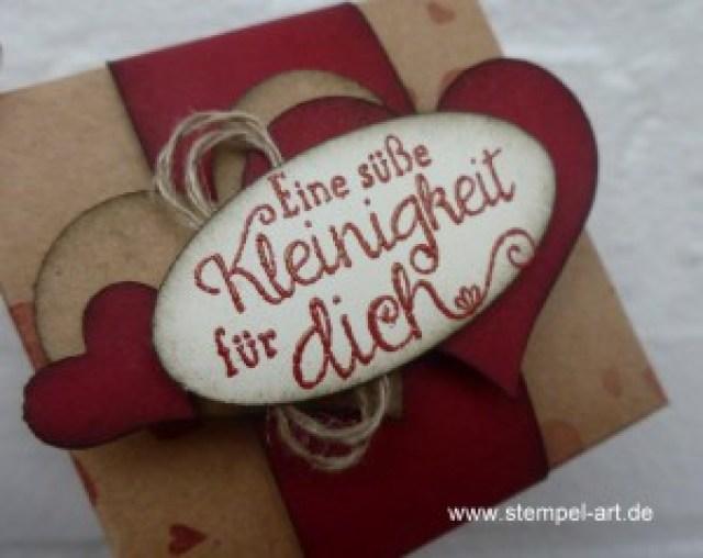 weihnachtliche Hanuta Verpackung nach StempelART, (3)