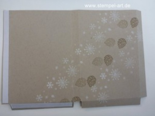 Adventskalender To Go nach StempelART, Winter Wishes, Hardwood, bebilderte Anleitung, Tutorial (2)