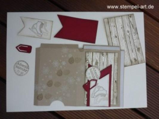Adventskalender To Go nach StempelART, Winter Wishes, Hardwood, bebilderte Anleitung, Tutorial (4)