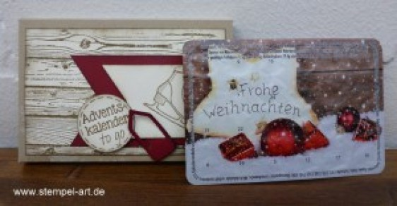 Adventskalender To Go nach StempelART, Winter Wishes, Hardwood, bebilderte Anleitung, Tutorial (8)