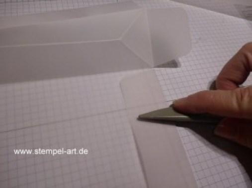Lichttüte mit dem Stampin up Stanz und Falzbrett für Geschenktüten, bebilderte Anleitung, Tutorial