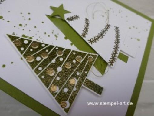 Weihnachtskarten Christbaumfestival Stampin up nach StempelART, Ein duftes Dutzend, Georgeous Grunge  (4)