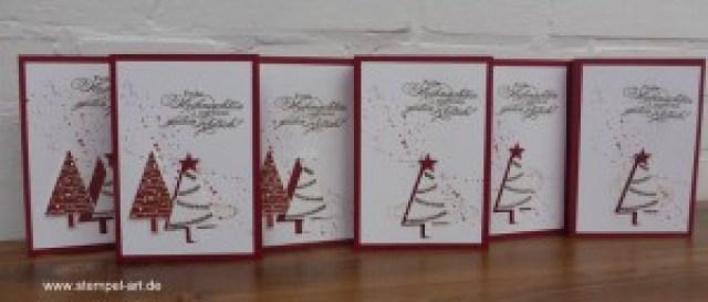 Weihnachtskarten Christbaumfestival Stampin up nach StempelART, Ein duftes Dutzend, Georgeous Grunge  (9)