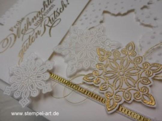 Weihnachtskarten Flockenzauber Stampin up nach StempelART, Ein duftes Dutzend, Georgeous Grunge  (1)