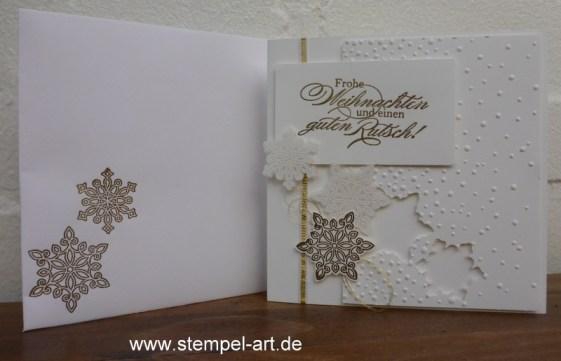 Weihnachtskarten Flockenzauber Stampin up nach StempelART, Ein duftes Dutzend, Georgeous Grunge  (2)