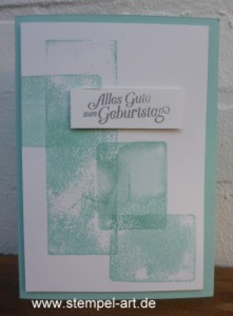 Stampin up Acrylblocktechnik nach StempelART, Hoch hinaus, dreifach einstellbare Fähnchenstanze