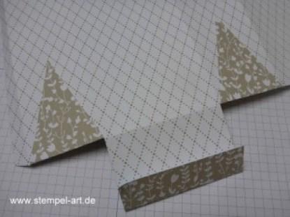 Stampin up Geschenktüte mit Magnetverschluß aus einem Bogen Designerpapier nach StempelART, bebilderte Anleitung, Tutorial