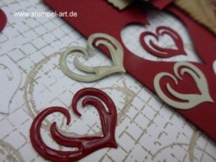 Stampin up Karte zum Valentinstag nach StempelART, Geburtstagsgrüße für alle, Timeless Textures, Teestunde, Stanze Abreissetikett