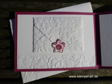 Stampin up Konfirmation nach StempelART, Eins für Alles, Prägeform Frühlingsblumen, Petit Petals, Stanze Eleganter Schmetterling