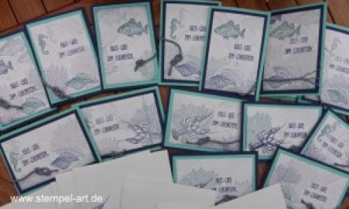 Schnorchelausflug nach StempelART, Stampin up, By the Tide, Geburtstagsallerlei, Männerkarten, maritime Geburtstagskarte