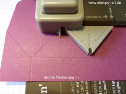 Diamantbox nach StempelART, Stampin up, Stanz - und Falzbrett für Geschenktüten, bebilderte Anleitung, Tutorial