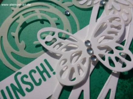 In Color Farben 2016 - 2018 Smaragdgrün nach StempelART, Stampin up, Wunderbar verwickelt, Schmetterling, Schmetterlinge, Timeless Textures, Paarweise