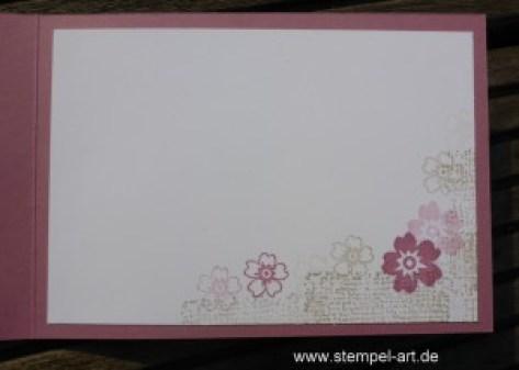 Blühendes Herz nach StempelART, Stampin up, Blüten der Liebe, Timeless Textures, In Color Farben 2016 - 2018