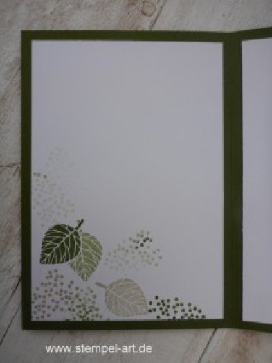 Wald der Worte nach StempelART, Stampin up, Meereswellen, Blatt und Blüte, Trauer