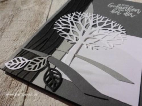 Trauerkarten nach StempelART, Stampin up, Wald der Worte, Wunderbar verwickelt, Blatt und Blüte, Blütenpoesie, Blühende Worte, Meereswellen,Trauer, Beileid