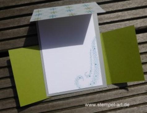 Sternenzauber nach StempelART, Stampin up, Weihnachtsstern, Double Dutch Fold Card, Tolle Kartentechnik!!!, Technikbuch