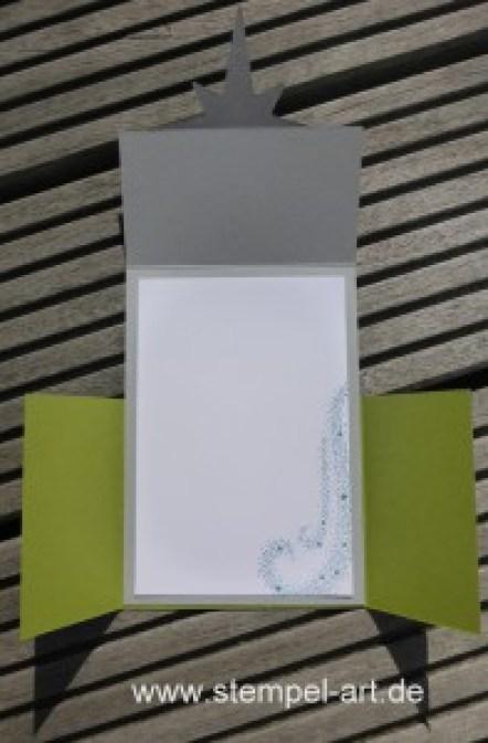 Sternenzauber nach StempelART, Stampin up, Weihnachtsstern, Double Dutch Fold Card, Tolle Kartentechnik!!!