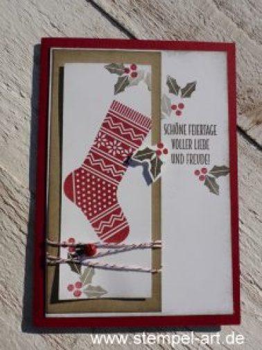 Von den Socken nach StempelART, Stampin up, Tannenzweig, Weihnachten