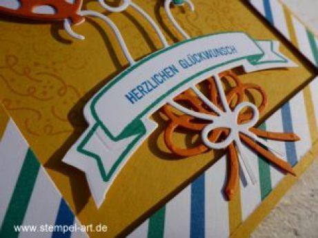 Ballonparty nach StempelART, Stampin up, Pop - up - Ballons, CD Verpackung, Geburtstag
