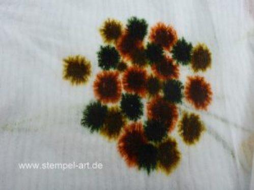 Baby Wipe Technique nach StempelART, Stampin up, bebilderte Anleitung, Tolle Technik!!!, Wald der Worte, Baum und Blüte, Tutorial, Herbst