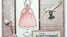 Konfirmasjonskort – med kjoler
