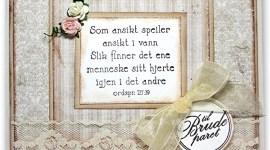 Bryllupskort med tekststempel