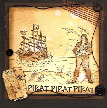 Et tøft piratkort til en liten pirat.