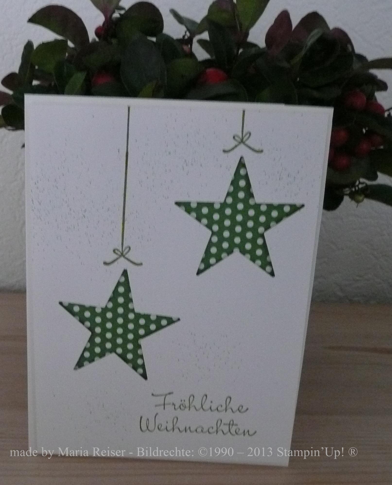 Weihnachten         Stempelmarie im Kreis Dren