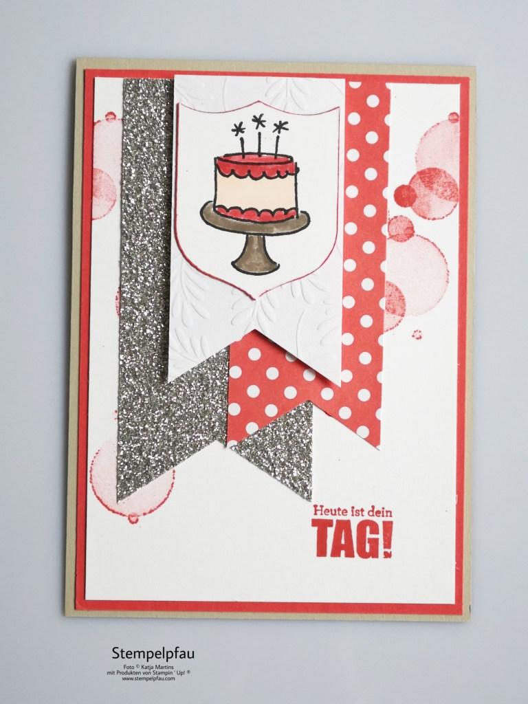Geburtstagskarte mit altem Designerpapier von Stampin' Up!