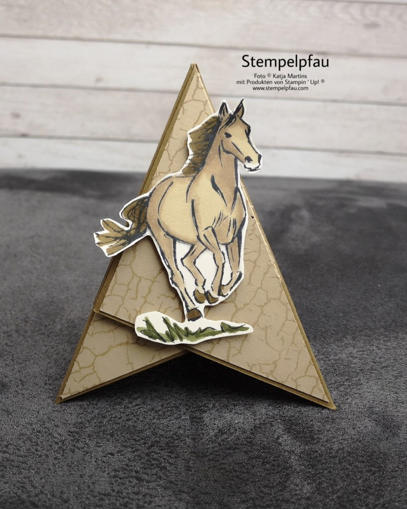 Tippikarte mit Pferd von Stampin' Up Frühjahr-Sommerkatalog