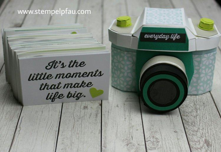 Kamera und Album. Stampin' Up! Produkte verwendet. Ein tolles Geschenk