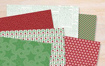 Designerpapier Elegante Weihnachten