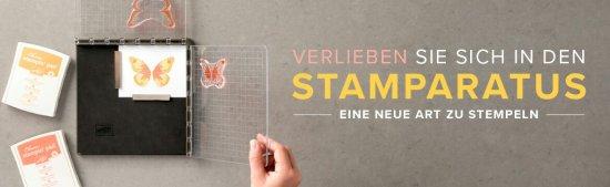 Der Stamparatus das tolle Stempeltool von Stampin' Up!. Neue Reservierung möglich.