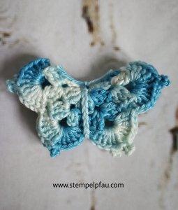 Schmetterling gehäkelt aus Verlaufsgarn