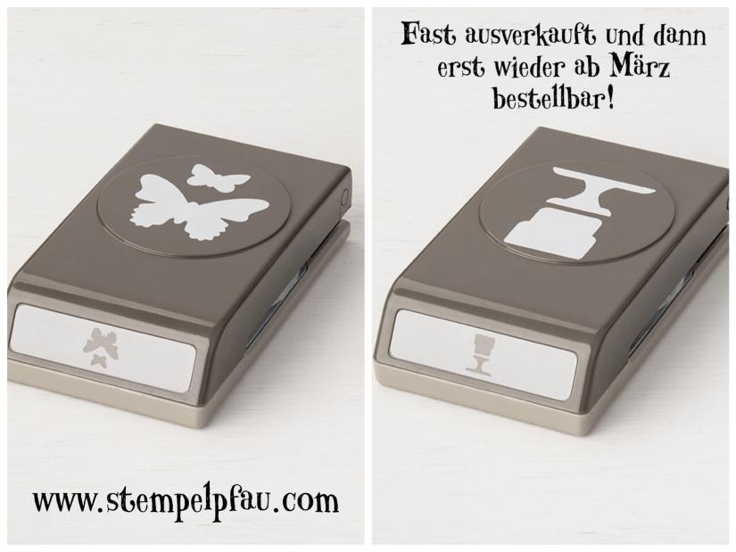 Fast Ausverkaufte Handstanzen Schmetterlinge und Torte von Stampin' Up!