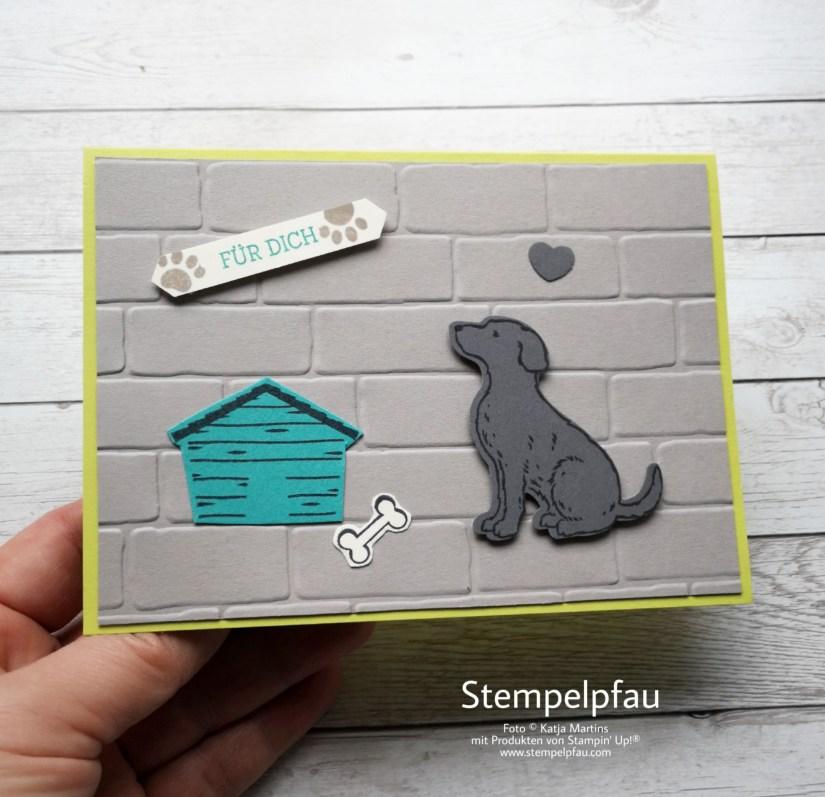 Einladungskarten mit Produkten von Stampin' Up! Hund