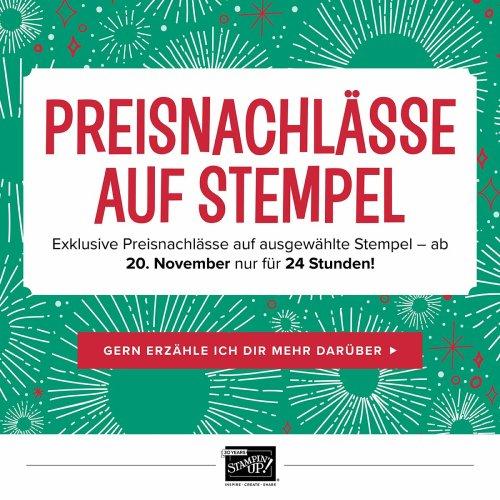 Onlinespektakel bei Stampin' Up! Mehr Informationen erhälst Du bei www.stempelpfau.com
