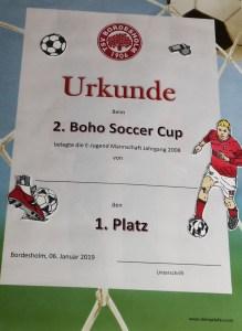 Auftragsarbeiten Urkunde, Fußball, Stampin Blends, BoHo Soccer Cup