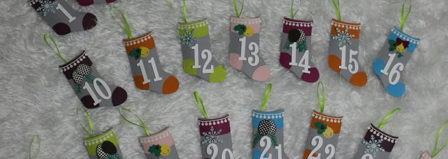Alle Stiefel sind fertig. Adventskalender für die Schule mit Produkten von Stampin' Up!