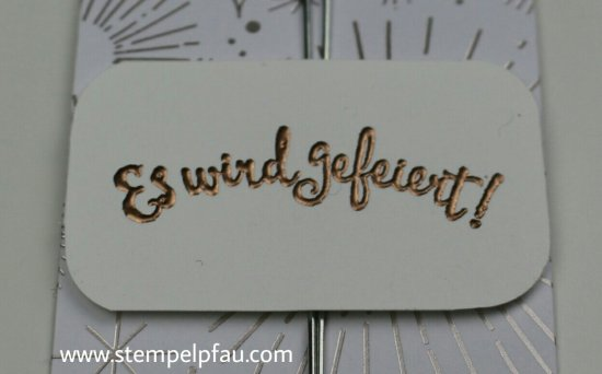 Kupfer embrossed mit Stampin' Up!