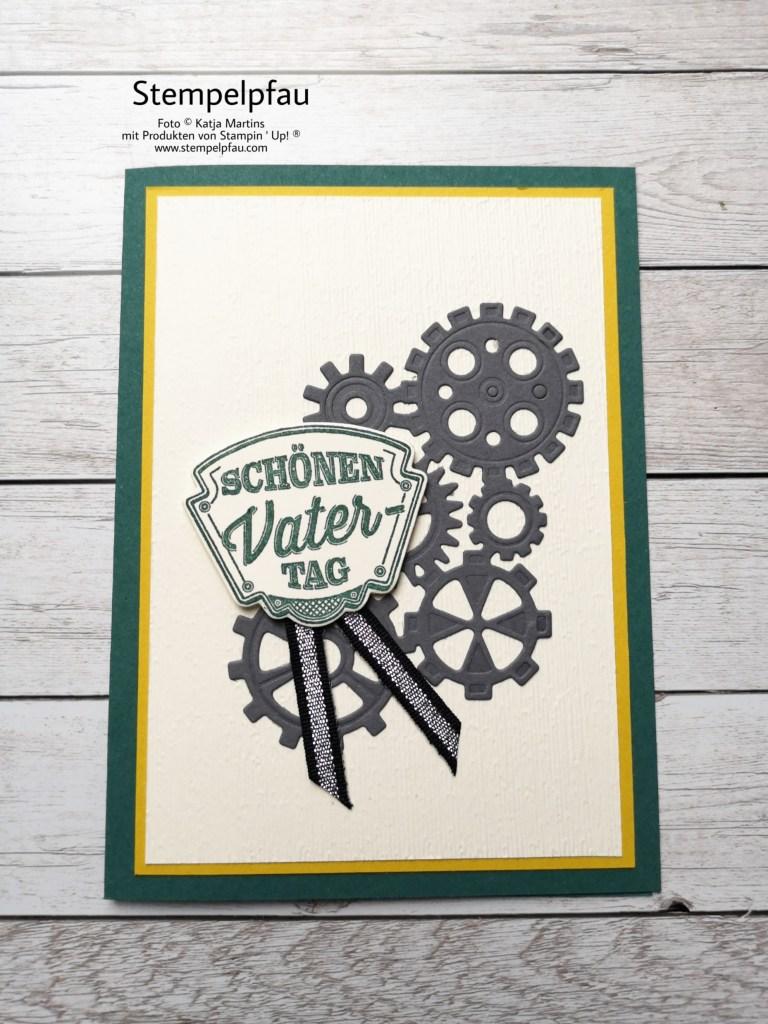 Vatertagskarte mit der Produktreihe In der Werkstatt von Stampin' Up!