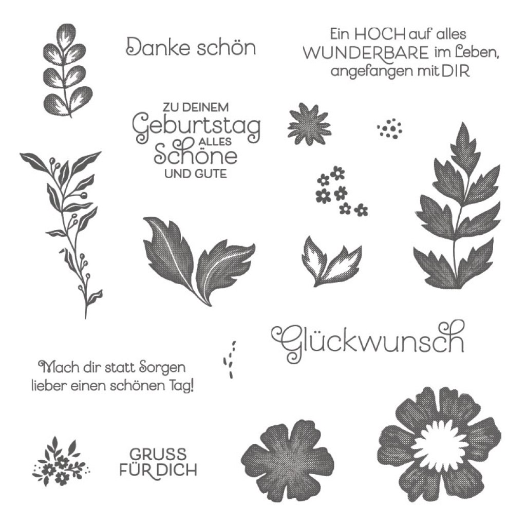 Deutsches Stempelset zum Produkt-Medley