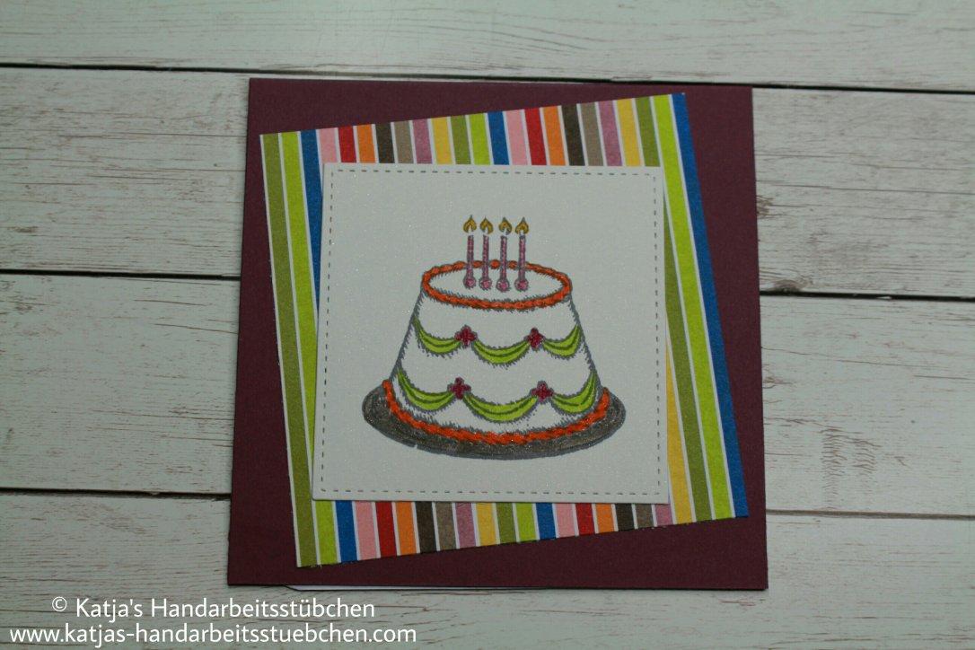 Stampin' Up!, Nostalgischer Geburtstag, Karte, Kuchen