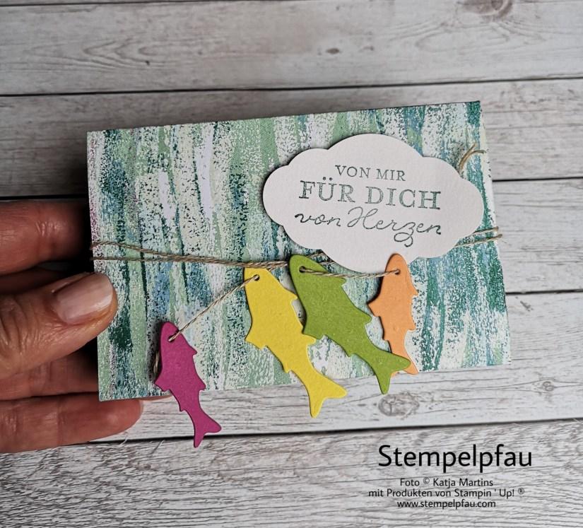 Meer, Fische, Framelits FANG DES Tages, Stampin' Up!, Geschenke, Stempelpfau