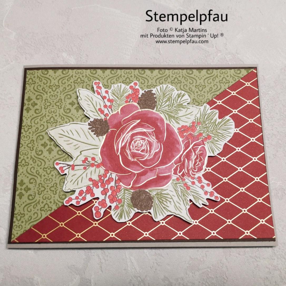 Weihnachtskarte, Designerpapier Wunderbare Weihnachtszeit, Stampin' Up!